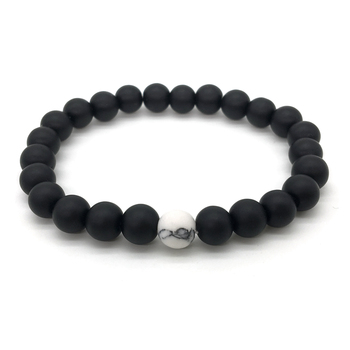 2Pcs/Set Bracelet Classic White and Black Yin Yang 4