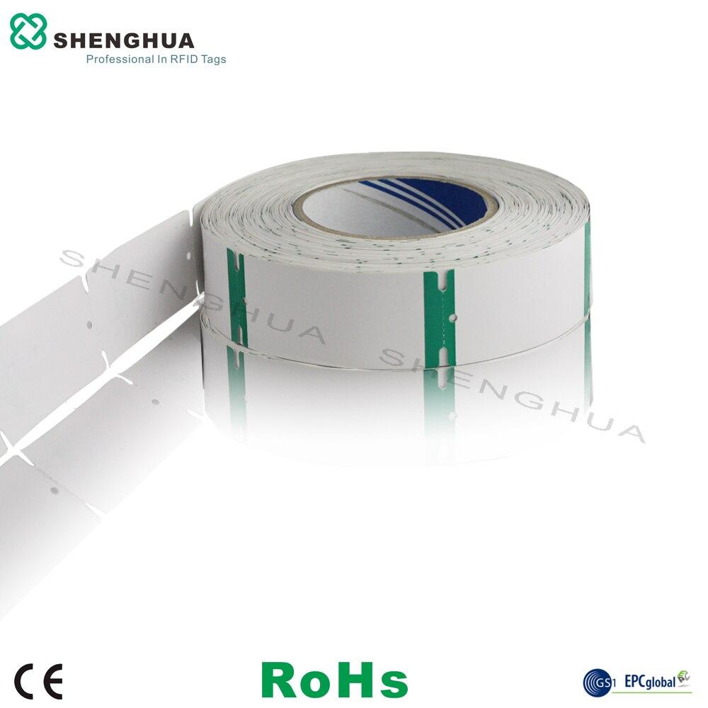 10pcs/roll SH-I0101 Uhf Label Card Rfid Clothing Apparel Tag Ticket ISO 180000-6C 90*40MM SH-I0101