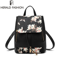 New Design PU Leather Women Backpack School Bags Students Backpacks Ladies Women Travel Bags Package 2016