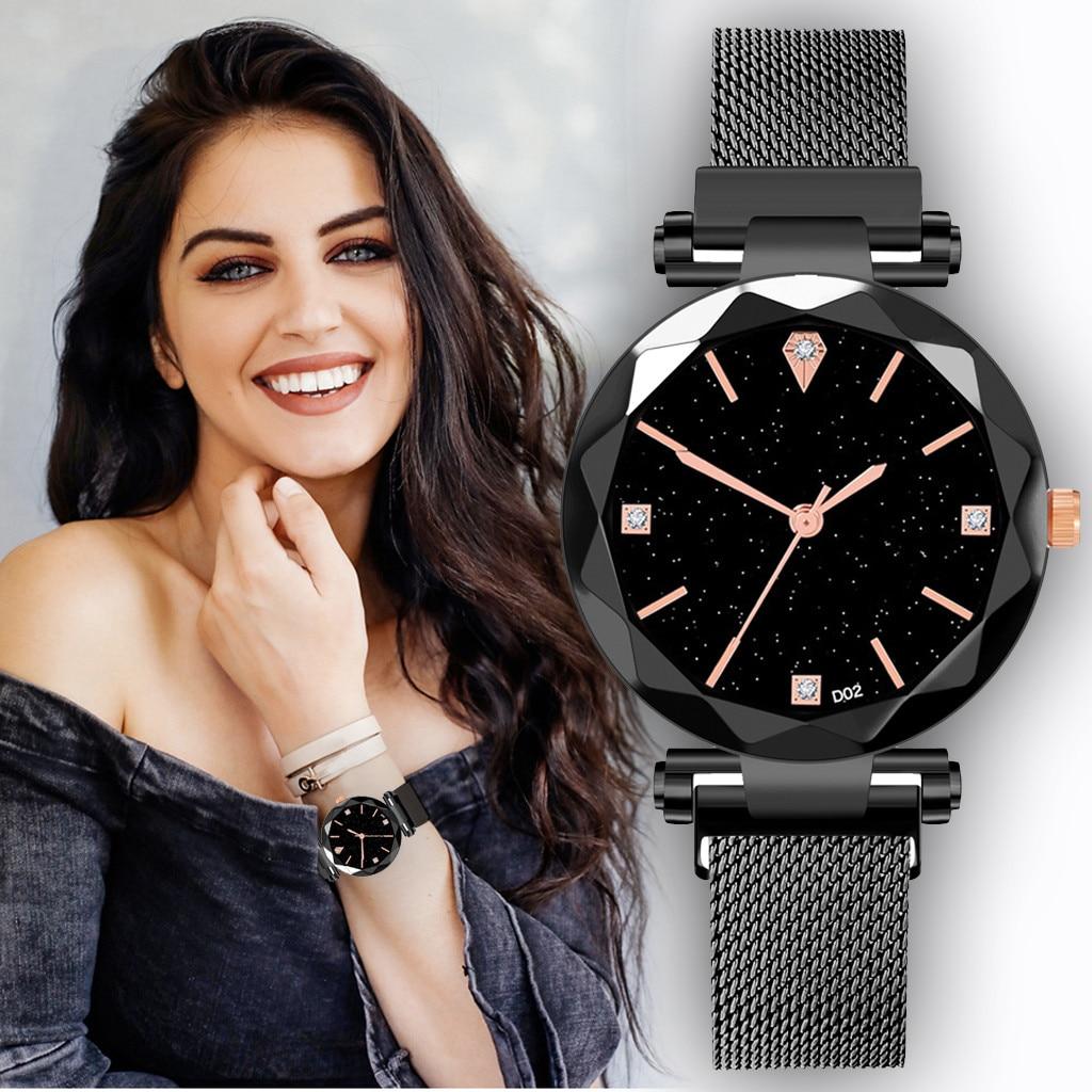 Women watches 2019 Women Watches Minimalism Starry sky Magnet Buckle Casual Female Wristwatch Wristwatch Clock Gift Dropship#5