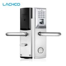 цена на Digital Biometric Fingerprint Password Electronic Keypad Door Lock with Deadbolt Silver L&S SL16-083S