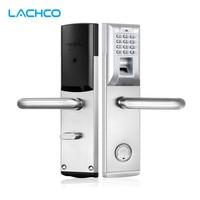 LACHCO Biometric Fingerprint Lock Password Electronic Keypad Door Lock with Deadbolt Smart Entry keyless home office L18083BS