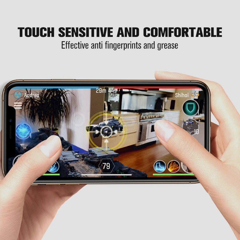 Front Back Screen Protector For iPhone XR XS Max X 0 26MM Transparent 9H Explosion proof Tempered Glass Film For iPhone XS Max in Phone Screen Protectors from Cellphones Telecommunications