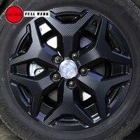 1 Set for 4 Wheels Trim Sticker Cover Protector for Subaru Forester 2019 Car Tire Trim Decoration Wrap Carbon Fiber Vinyl Access