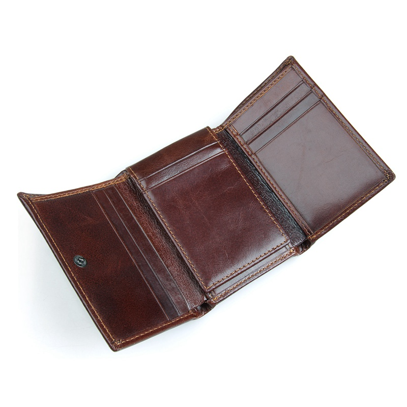 Coffee Multi Credit Card Holder Two Folds Short Wallet Fashion And Casual Business Standard Wallet Card Case R 8105Q in Wallets from Luggage Bags