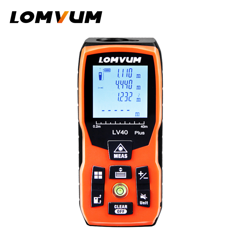 LOMVUM 100m new USB charge bubble Level 40M Laser Rangefinders Digital Laser Distance Meter distance measurer laser tape drill buddy cordless dust collector with laser level and bubble vial diy tool new