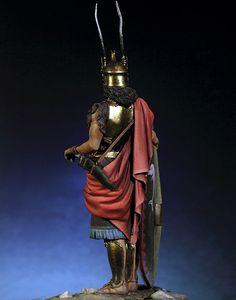 Image 3 - 1/18 90 MM עתיקות גבורה Tracian לוחם איש שרף איור דגם ערכות מיניאטורות gk Unassembly לא צבוע