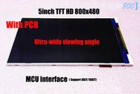 Free ship 5pc 5inch TFT LCD screen module with PCB MCU 800*480 HD Color LCD Drive IC NT35510 Ultra wide viewing angle LCD Screen