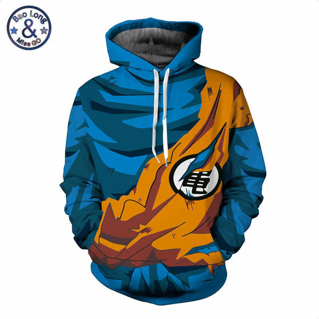 3D Dragon Ball Naruto Pocket Hooded Sweatshirts