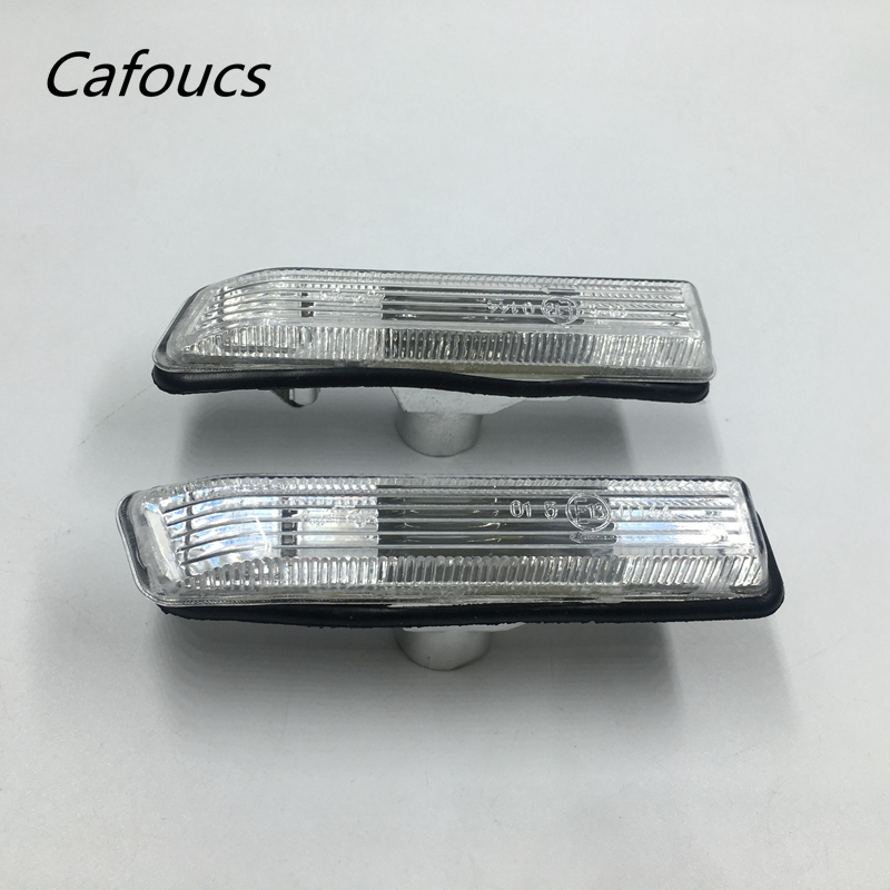 Cafoucs For BMW E53 X5 1999-2005 Car styling Fender Side Marker Turn Signal Lights Repeater Lamp RH 63132492180 LH 63132492179 2pcs car styling led smoker side marker light fender turn signal lamp for bmw e81 e82 e87 e88 e90 e91 e92 e60 e61 accessories