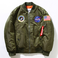 Winter Herren MA-1 Pilot Bomberjacke Männlichen Nylon Flying Tigers NASA stickerei Air Force Flight Ma1 Jacke Plus Größe 4XL 5XL 6XL