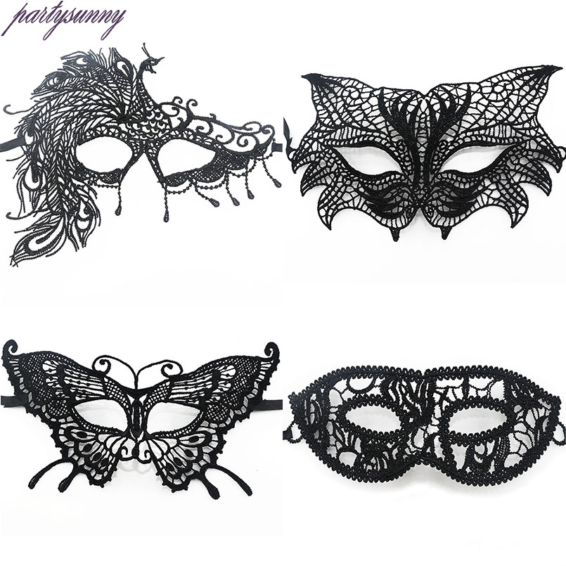 1 Pz Black Party Maschera di Pizzo Ragazze Sexy Lady Mask per Masquerade Cosplay Costume Party Costume
