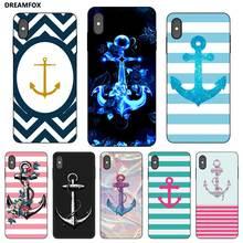 P023 Boat Anchor Black Silicone Case Cover For Apple iPhone 11 Pro XR XS Max X 8 7 6 6S Plus 5 5S SE boxpop boxpop 45x135 p023