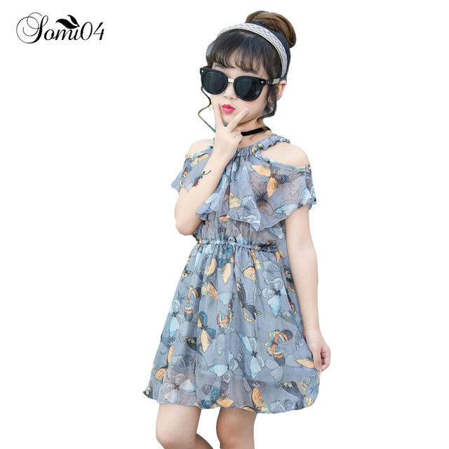 a1b15a0f1 Kids 2 13 Years Old Children s New Girl Dress 2018 Summer Strapless ...