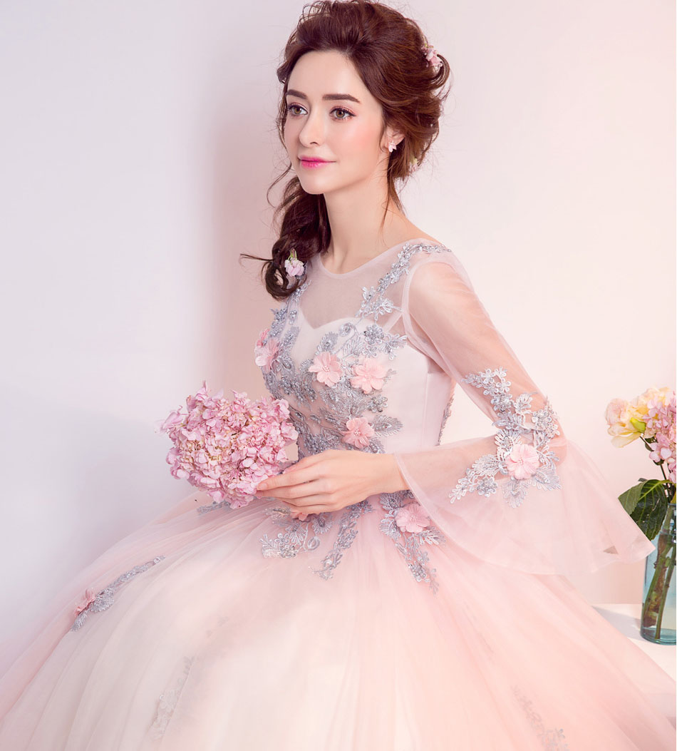 baby pink princess prom dresses 2017 vestido de festa new style ...