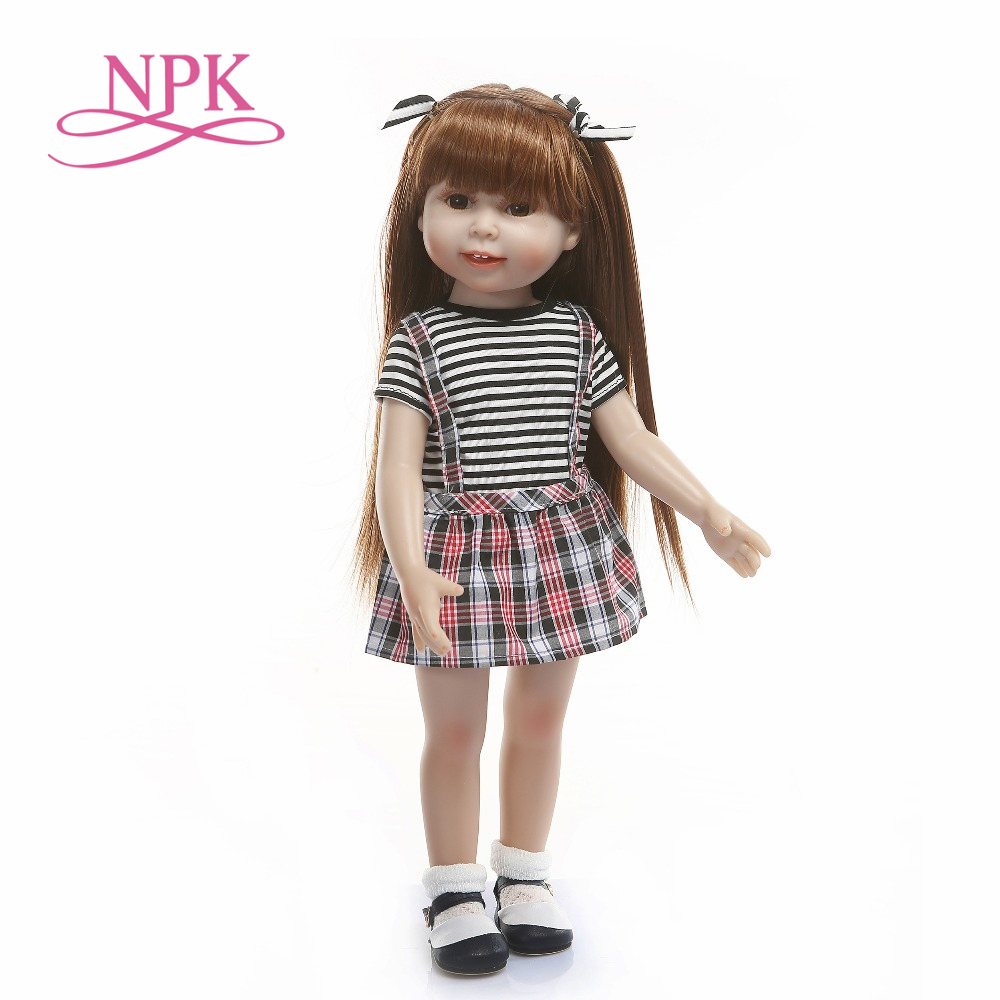 18inch girl doll American soft silicone vinyl long hair princess toy high quality our doll generation