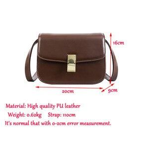 Image 5 - High quality designer satchels brand pu leather purses and handbags ladies chain clutch tofu bag messenger tote Alligator flap