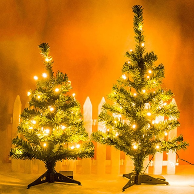 Us 12 54 Mini Led Christmas Tree 45 60cm Christmas Ornaments With Led Lights For Home Shopping Mall Decoration Christmas Gifts In Trees From Home