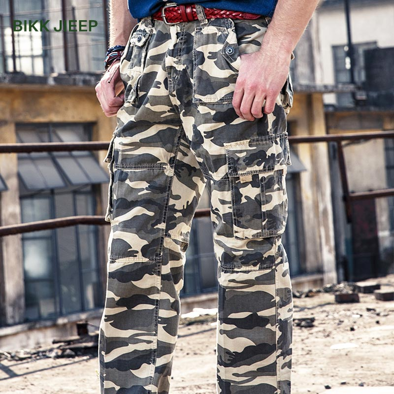 Pants Men Camouflage Military Pant Loose Cargo Trousers Army Military Men Cargo Pants Male Easy Wash Camo Joggers Trousers