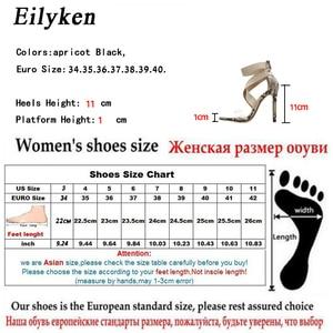 Image 5 - Eilyken New 2021 High Quqlity Women Sandals Open Toe Stiletto High Heels Summer Ladies Party Stretch Fabric Sandal Shoes