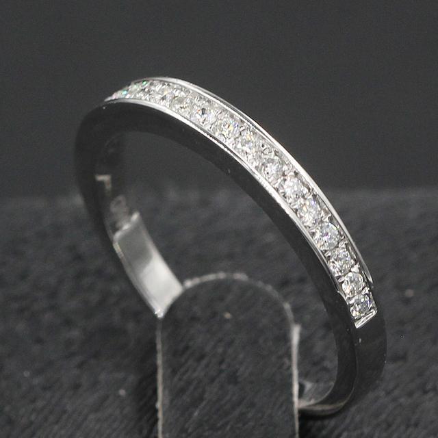 0.21CTW Diamond 9K White Gold Wedding Engagement Ring