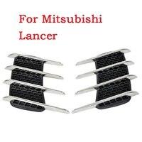Mang cá mập thực tế trang trí cửa hàng side dự thảo lỗ thông hơi mui air intake cơ bìa sửa đổi nhãn dán Cho Mitsubishi Lancer