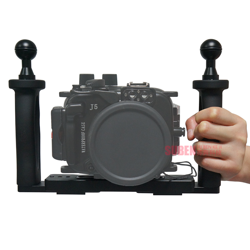 Underwater Tray Housings Arm for Gopro Action Camera Holder Double Grip Dive for Canon Nikon Sony