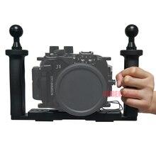 Подводные Лоток Корпуса Кронштейн для Gopro Действий Камеры Держатель Двойной Бородкой Погружения для Canon Nikon Sony Olympus Fujifilm