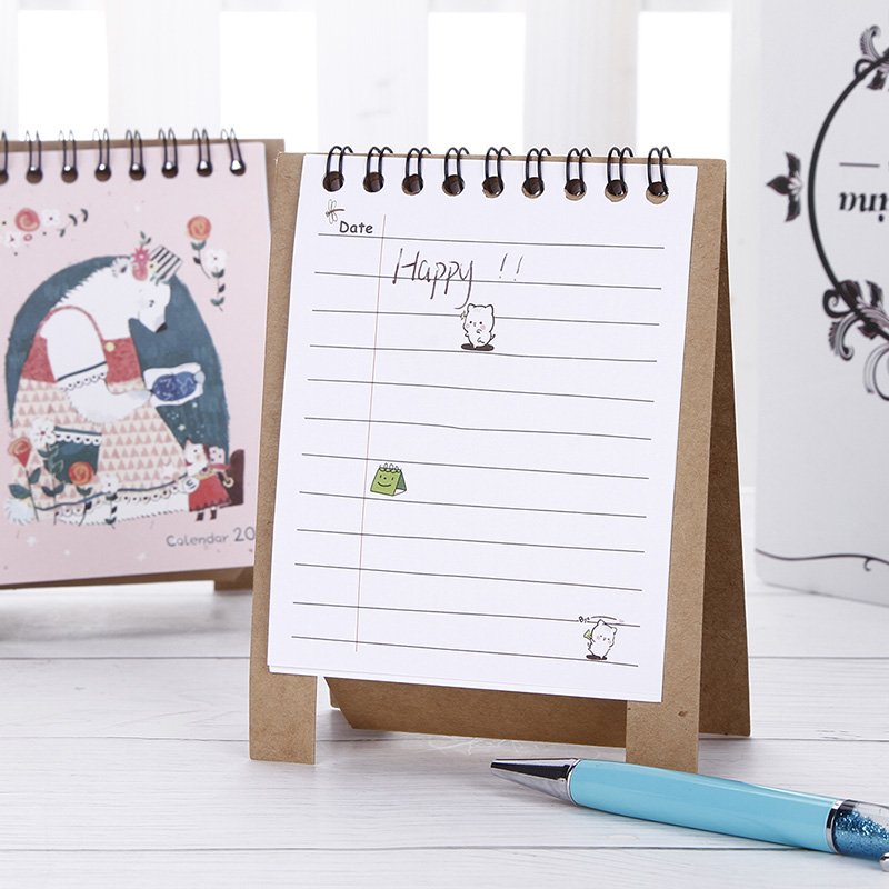 Office & School Supplies 2019 Plan Gifts Home Paper Decoration Vertical Multifunction Office Notebook Timetable Kawaii Cartoon Desk Calendar Non-Ironing Calendar