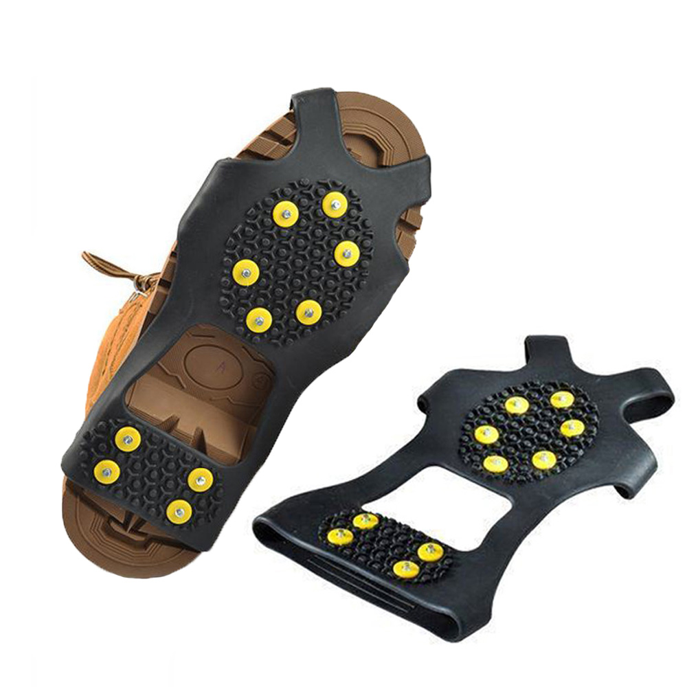 Soumit 10 Studs Ice Gripper Spike for Shoes Outdoor Anti Slip Climbing Snow Spikes Crampons Cleats Chain Claws Grips Boots Cover in Ice Gripper from Shoes