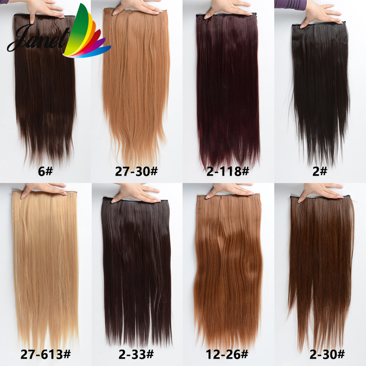 New Hot Synthetic Clip In Hair Extensions 120g 24inch Long Korean
