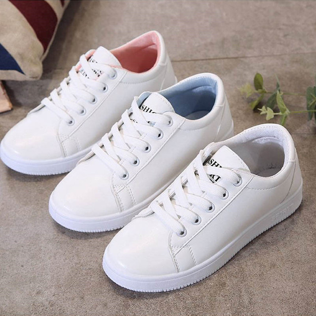 Women Canvas Shoes Lace-up Casual Flats White Ladies White Shoes Woman Sneakers Women Vulcanize Shoes zapatillas mujer