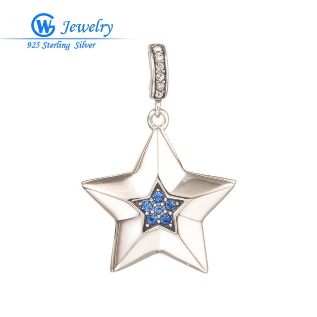 83cdff69b49f joyeria fina de marcas famosas Crystal star pendants fits for necklace for  women 925 sterling silver Jewelry PETY020H20