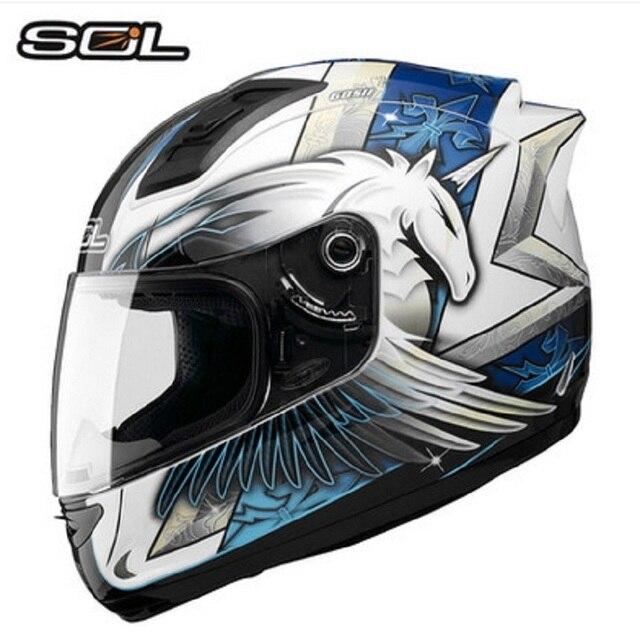 1892 2017 Nouvelle Arrivée Sol Licorne 69 S Taiwan Mode Moto Accessoires Moto Casque Intégral Dot Certifié Motocross Casque Dans Casques De