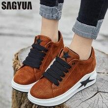 32743f56 Sagyua mujeres jóvenes señora primavera otoño niña señora moda casual  confort Mujer Zapatos Encaje esponja suela
