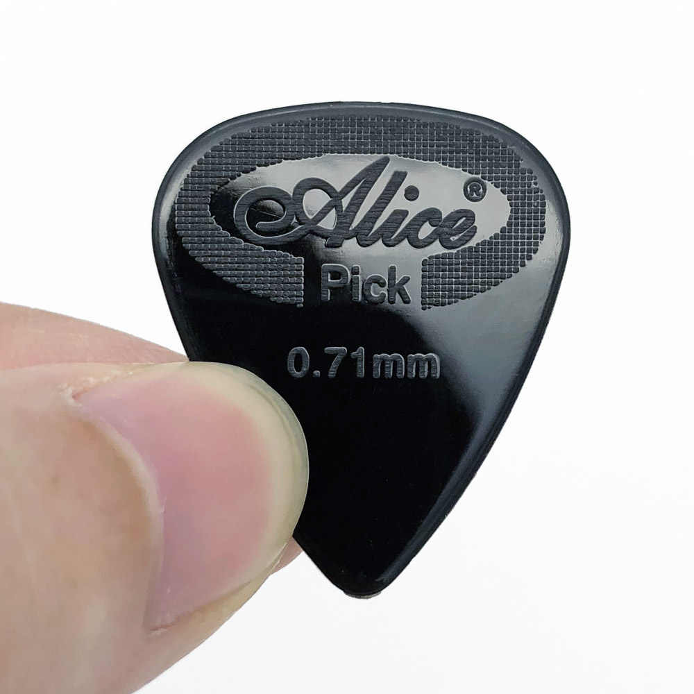 12 pieces Alice Guitar Pick Non-slip Black White Nylon Mediator for Acoustic Electric Guitarra Ukulele Accessories