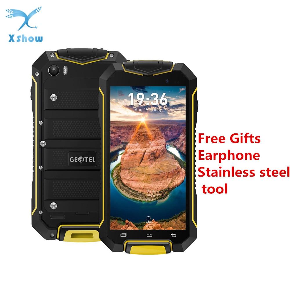 Oryginalny Geotel A1 z systemem Android 7.0 Smartphone MTK6580M Quad Core 4.5 ''telefon komórkowy wodoodporna 1 GB pamięci RAM 8 GB pamięci ROM GPS WCDMA telefon komórkowy w Telefony Komórkowe od Telefony komórkowe i telekomunikacja na AliExpress - 11.11_Double 11Singles' Day 1
