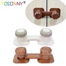 TUSUNNY 3PCS ABS material safety latch adjustable door cupboard lock