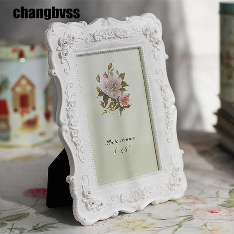 Romantic White 6/7/8/10 Inch Desktop Photo Frames Home Decor Picture Frame For living Room Picture Frames Gift For Wedding
