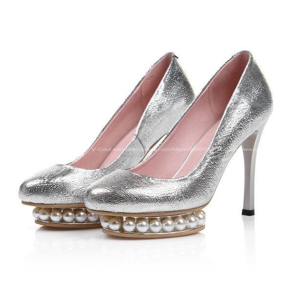 new 2015 big size 45 women 39 s silver high heels elegant. Black Bedroom Furniture Sets. Home Design Ideas