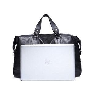 Image 2 - 패션 남자 여행 가방 수하물 방수 가방 더플 백 큰 대용량 가방 캐주얼 대용량 PU 가죽 핸드백
