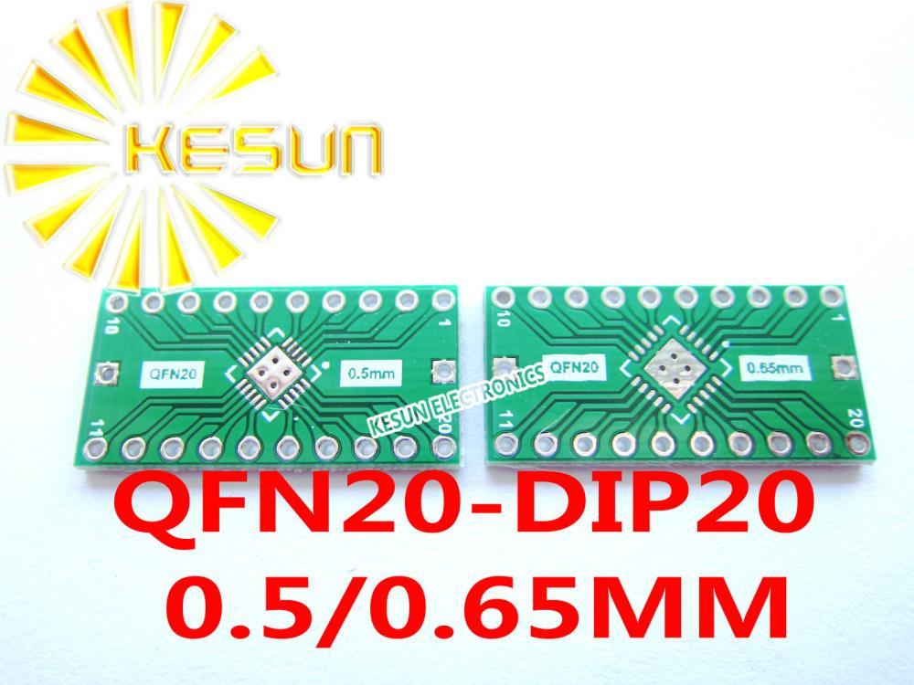 5//10PCS QFN16 0.65mm Adaptador 0.5mm a DIP16 PCB Board Convertidor Doble de los lados