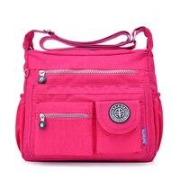 Women Shouder Bags Handbags Female Famous Brand Solid Messenger Bag Small Summer Beach Nylon Purse Sac