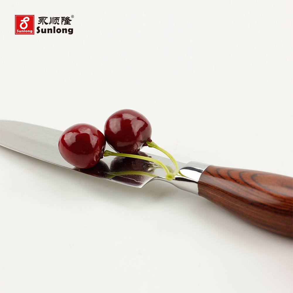 Japanese vegetable knife - Damascus Steel Tools Japanese Vegetable Knife Advanced Color Wood Handle Kitchen Knives 5 Inch Sharp Santoku Knife Chef Knife In Kitchen Knives From Home