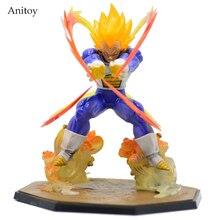 15CM Anime Dragon Ball Z Super Saiyan Vegeta Battle State Final Flash PVC Action Figure Collectible Model Toy GB001