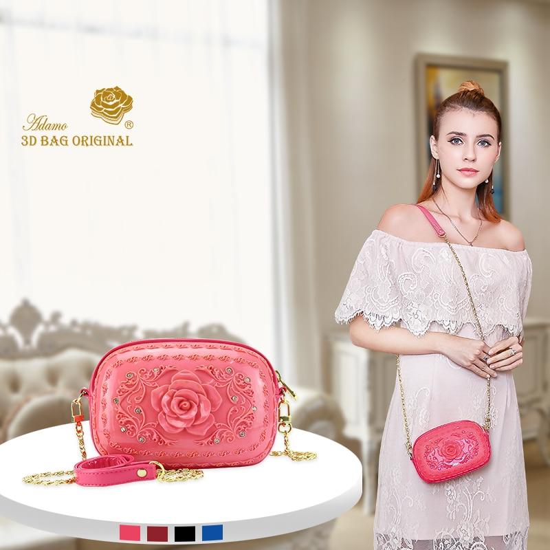 Adamo 3D Bag Original Rugosa of Denise Sling Bag Mini Crossbody Bags for Women Messenger Bags Small Female Shoulder Handbags цена