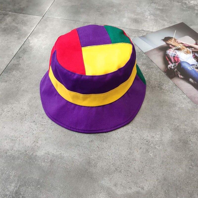 2019 Cotton Patchwork Bucket Hat Fisherman Hat Outdoor Travel Hat Sun Cap Hats For Women And Men 35