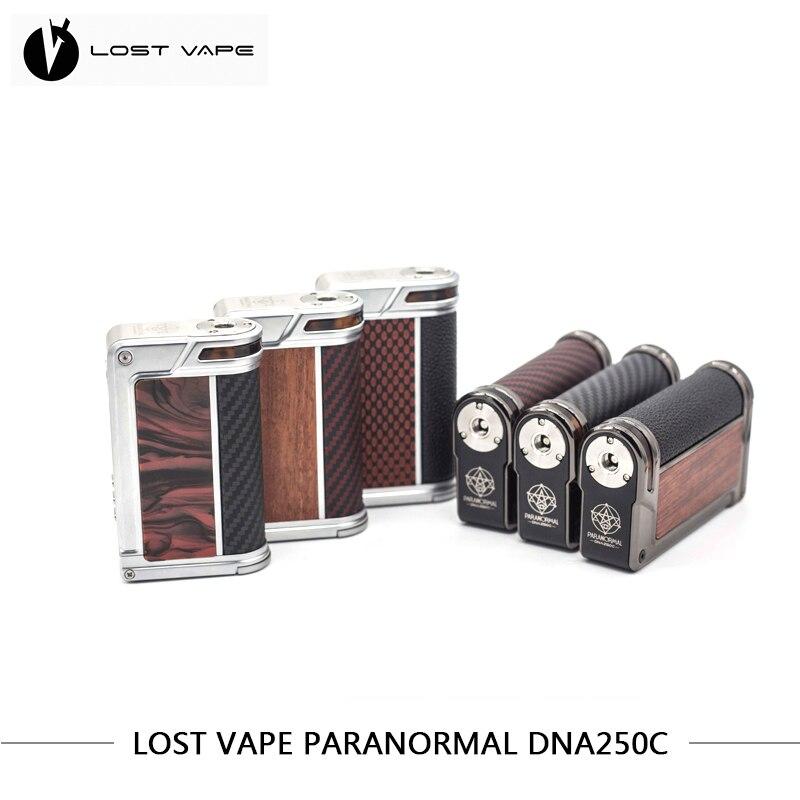 100% cigarrillos electrónicos originales LOSTVAPE PARANORMAL DNA250C caja Mod con Evolv muy avanzada DNA250C chipset perdido Vape Cig