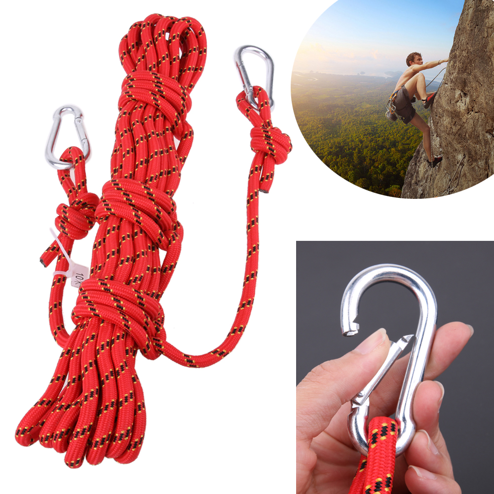 Professional Safety 10m Paracord Rock Climbing Rope Hiking Accessories Cord 10mm Diameter 3KN High Strength Rope Survival Tool