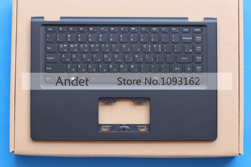 New Original For Lenovo Yoga 2 13 US Keyboard Palmrest Upper Case Cover Black with Backlit